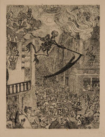 James Ensor, 'La Mort poursuivant le troupeau des humains (Death Chasing the Flock of Mortals)', 1896