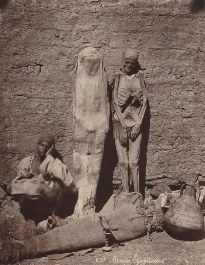 Félix Bonfils, 'Momies Egyptiennes (Egyptian Mummies)', ca. 1870