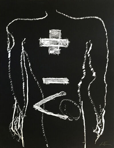 Antoni Tàpies, 'Cos + -', 1992