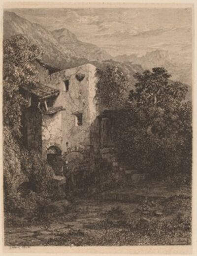 Alexandre Calame, 'Dilapidated House', 1845