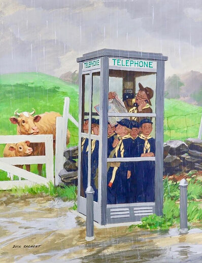 Richard Sargent, 'Cub Scouts in Phone Booth', 1961