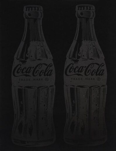 Cey Adams, 'Double Coca-Cola (black on black)', 2017