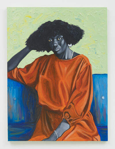 Otis Kwame Kye Quaicoe, 'Lady on Blue Couch', 2019