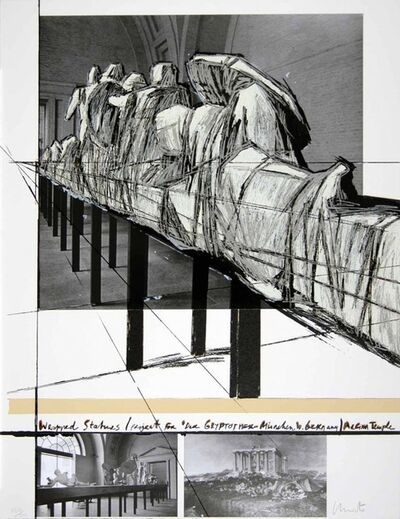 Christo, 'Project for the Munich Glyptothek', 1988