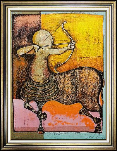 Graciela Rodo Boulanger, 'Graciela Rodo Boulanger Original Sagittarius Signed Zodiac Color Lithograph Art', 20th Century
