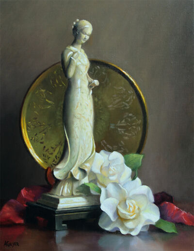 Alberta Geyer, 'Figurine in Ao Dai Dress', ca. 2019