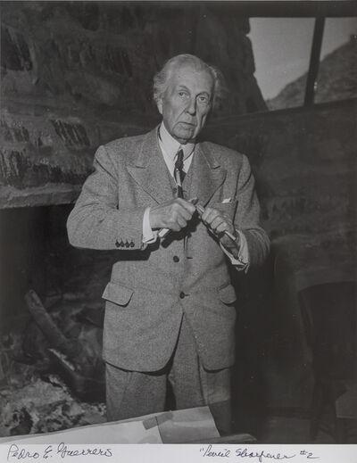 Pedro E. Guerrero, 'Frank Lloyd Wright Sharpening a Pencil, #2', 1947