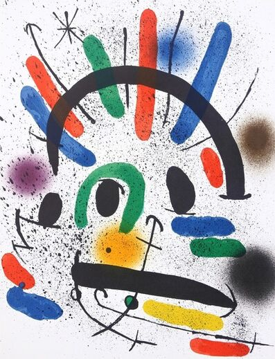 Joan Miró, 'Composition IV from Miró Lithographs 1', 1972