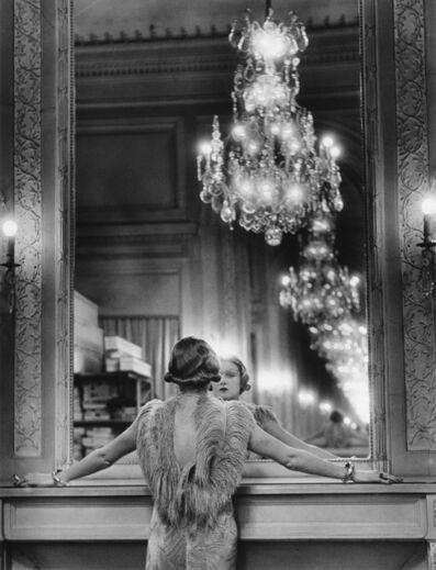 Alfred Eisenstaedt, 'Molyneaux Model, Paris (model looking in a mirror).', 1991