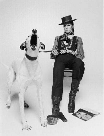 Terry O'Neill, 'David Bowie with Jumping Dog', 1974