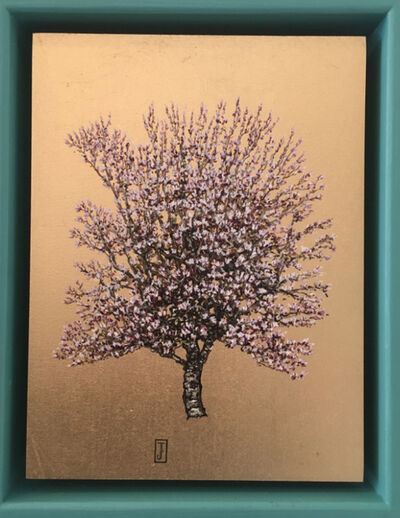 Jack Frame, 'Blooming Collection : White Blossom in Mint Frame ', 2018