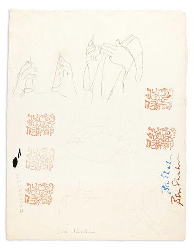 Ben Shahn, 'Sketches and Artist's Chop', circa 1960