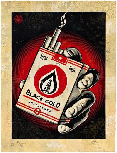 Shepard Fairey, 'Black Gold, HPM', 2015