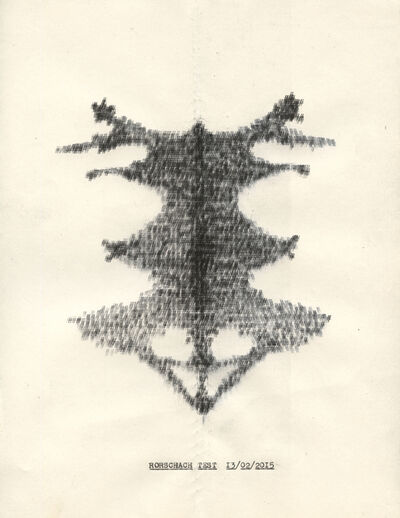 Lenka Clayton, 'Rorscharch Test (from the Typewriter Drawings series)', 2016