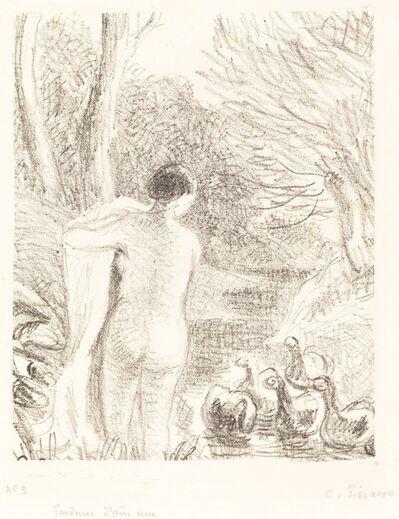 Camille Pissarro, 'Gardeuse d'oies nue (Nude Goose Girl)', ca. 1897