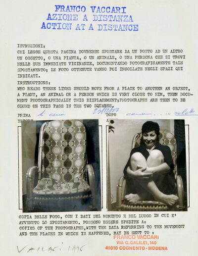 Franco Vaccari, 'Azione a distanza', 1976