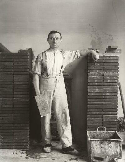 August Sander, 'Maurermeister (Master Mason)', 1926-1932 (printed 1990)