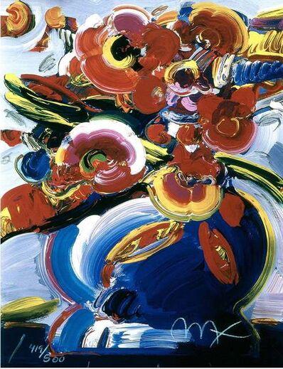 Peter Max, 'Flowers In Blue Vase III', 2000