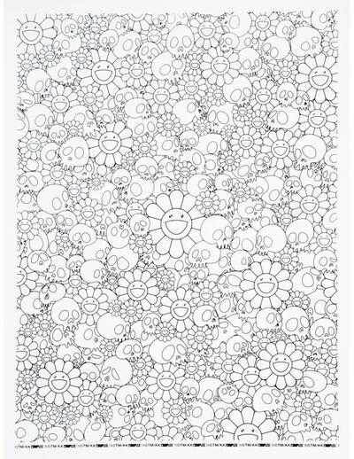 Takashi Murakami, 'Skulls and Flower Print (With Plastic Plate)', 2018