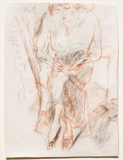 Jules Pascin, 'Hermine Cousant', 1916