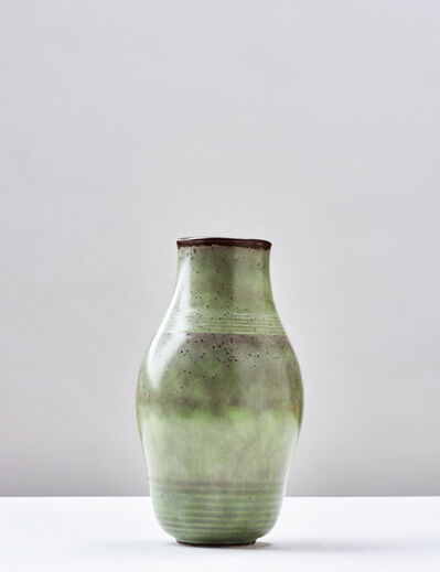 Émile Decoeur, 'Vase, Vers', ca. 1930