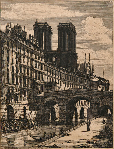 Charles Meryon, 'Le Petit Pont', 1850