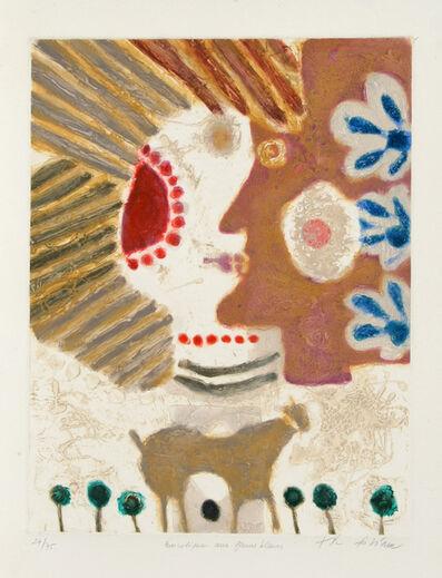 Theo Tobiasse, 'Bucolique aux Fleurs Bleus', ca. 1970