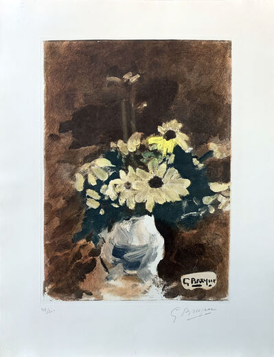 Georges Braque, ' Vase de fleurs jaunes', ca. 1960