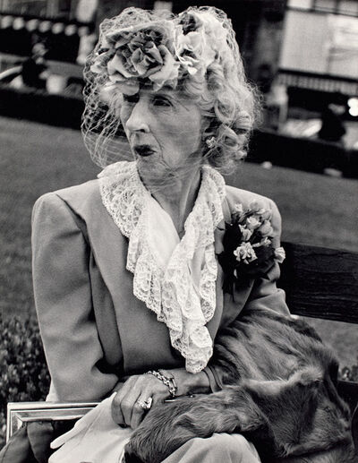 Lisette Model, 'San Francisco, Woman with veil', 1949