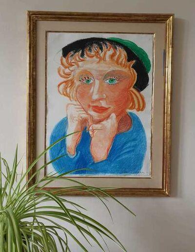 David Hockney, 'Celia with Green Hat', 1985