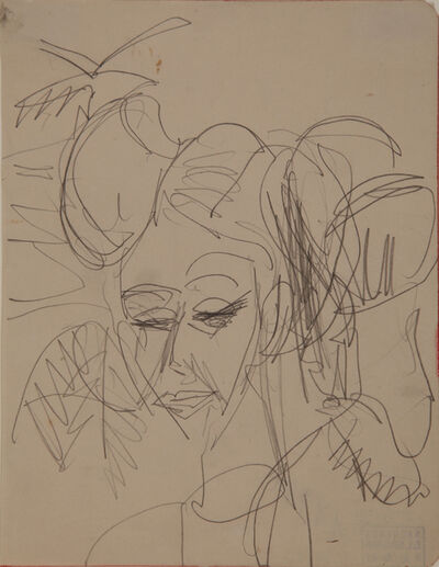Ernst Ludwig Kirchner, 'Frauenkopf (Gerda) (Woman's Head (Gerda))', 1915