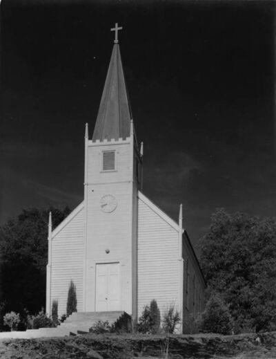 Ansel Adams, 'Church at Mariposa ', before 1935