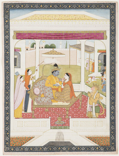 Unknown Artist, 'Rama and Sita enthroned', ca. 1800