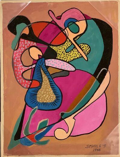 Rolph Scarlett, 'Untitled (Lyrical in Pink on Brown Ground)', ca. 1948