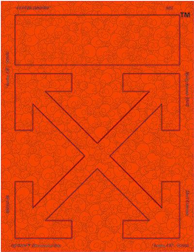 Takashi Murakami, 'Memento Mori: Fluorescent Orange', 2018