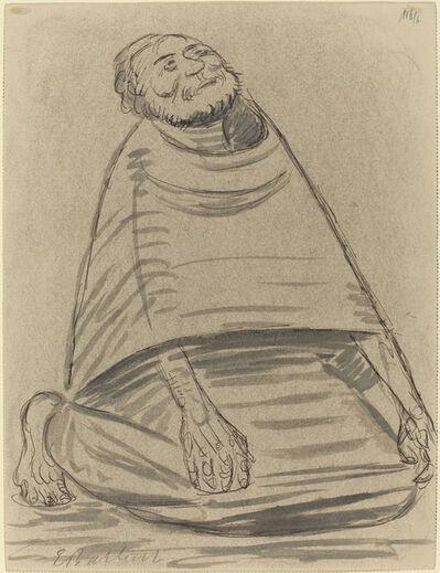 Ernst Barlach, 'Man Kneeling', 1916