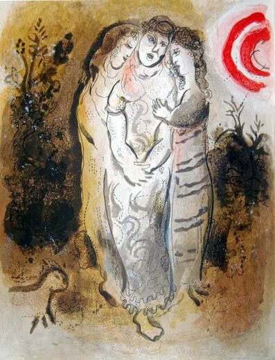Marc Chagall, 'Noemi Et Ses Belles-Filles (Noemi And His Daughter-In-Law)', 1960