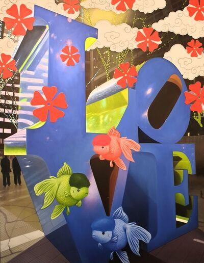 Hiro Ando, 'Love Nishikigoi Blue', 2010