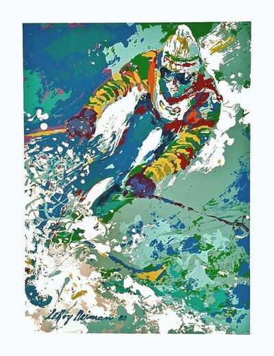 LeRoy Neiman, 'Downhill Skier', 1980