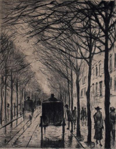 Lesser Ury, 'Streetscape small Bellevuestraße | Straßenbild Klein Bellevuestraße', 1919