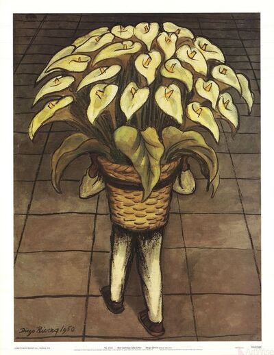 Diego Rivera, 'Man Carrying Calla Lilies', 2000