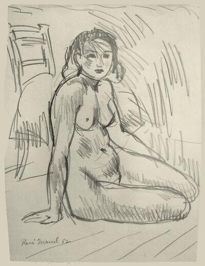 Rene Marcil, 'Untitled: seated nude', 1952
