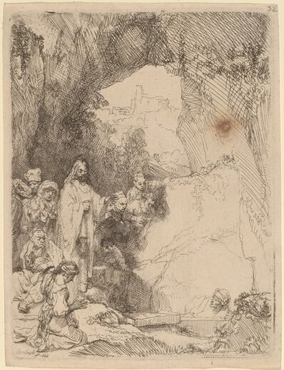 Rembrandt van Rijn, 'The Raising of Lazarus: Small Plate', 1642