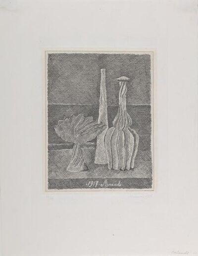 Giorgio Morandi, 'Natura morta con compostiera, bottiglia lunga e bottiglia scannellata ', 1928