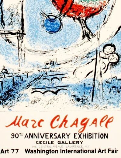 Marc Chagall, 'Rooster Over Paris - Chagal's 90th', 1977