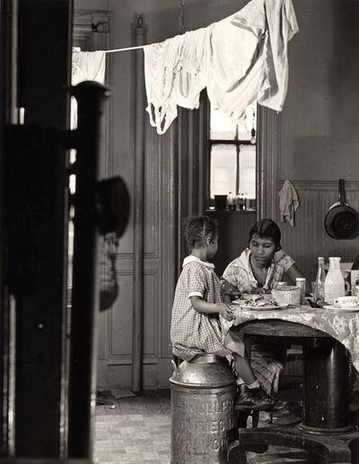 Aaron Siskind, 'Harlem Document (Woman and child eating at kitchen table)', 1935