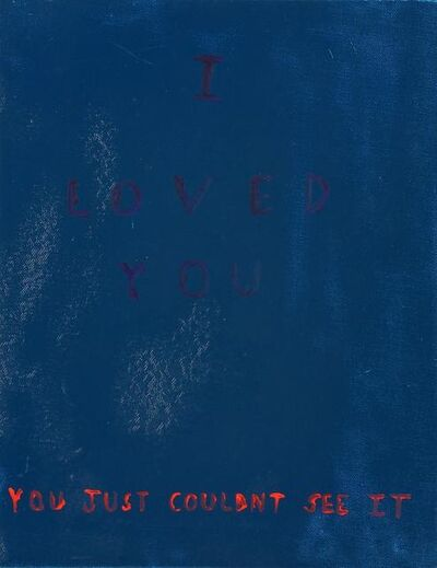 Richie Culver, 'I Loved You, You Just Couldnt See It', 2012