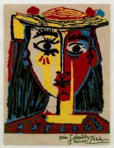 After Pablo Picasso, 'Femme au chapeau a pompons et au corsage imprime', 1994