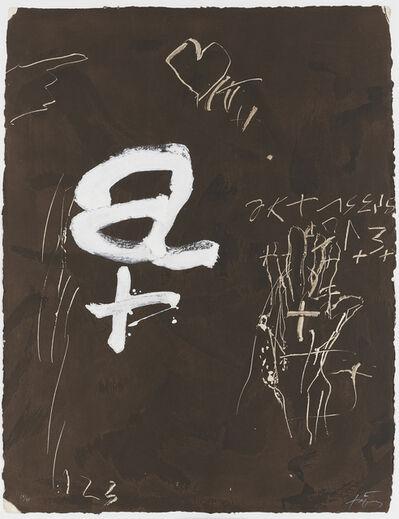 Antoni Tàpies, 'A i creu', 1992
