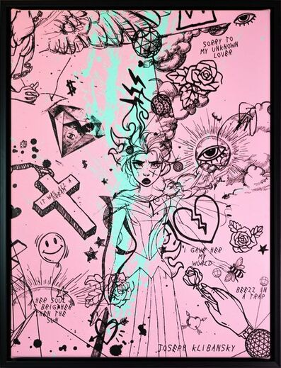 Joseph Klibansky, 'Villain In My Head Pink and Turquoise Splash', 2020